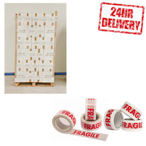 1 Pallet (3240 Rolls) Fragile 48mm x 50m Parcel Packing Tape CLEARANCE LOT