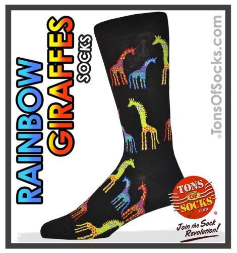 "Men/'s Laurel Burch /""Giraffe/"" Socks"
