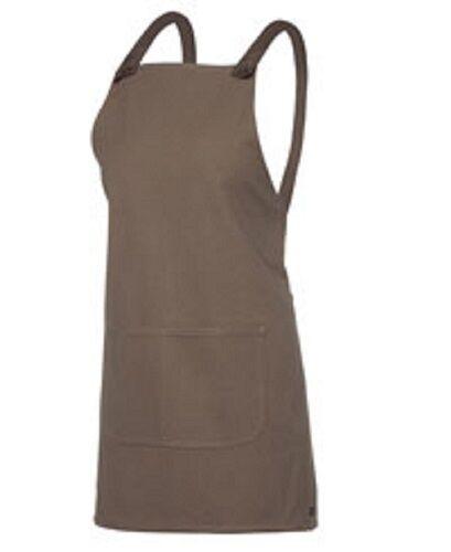NEW Cross Back Canvas Apron Cafe Apron Shorter length LATTE  Hospitality Uniform