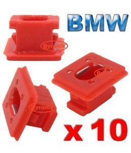 10-X-Clips-de-plastico-para-molduras-interiores-para-Bmw-E46-E65-E83