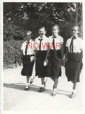 Wwii Original German Photo Girls In Uniform Bdm On March