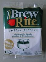 100ct Brew Rite Coffee Filters Disc Style Percolator X2 - Lot Of 2 Made In Usa