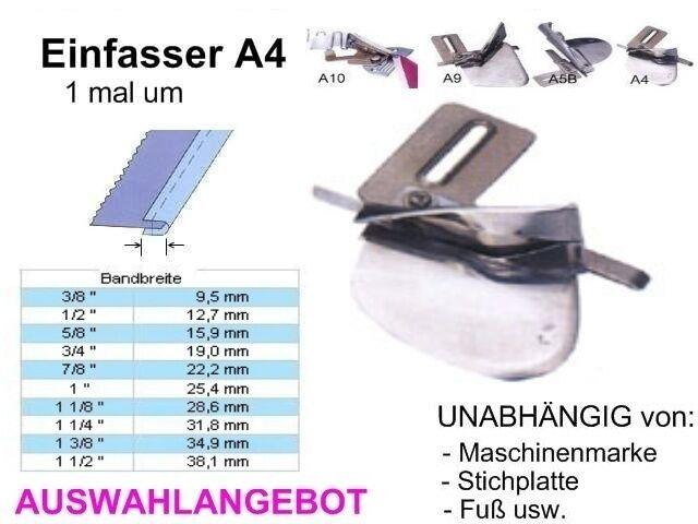 Einfasser A4, OFFENE Kanten, Breiten zur AUSWAHL, Universell passend !!