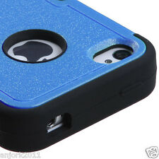 iPhone 4 4S Hybrid T Armor Snap-On Hard Case Skin Cover Blue Black