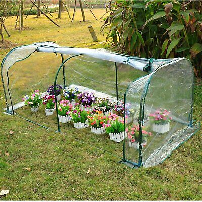 Transparent Clear PVC Tunnel Greenhouse Green Grow House Steel Frame 2 x 1 x0.8M