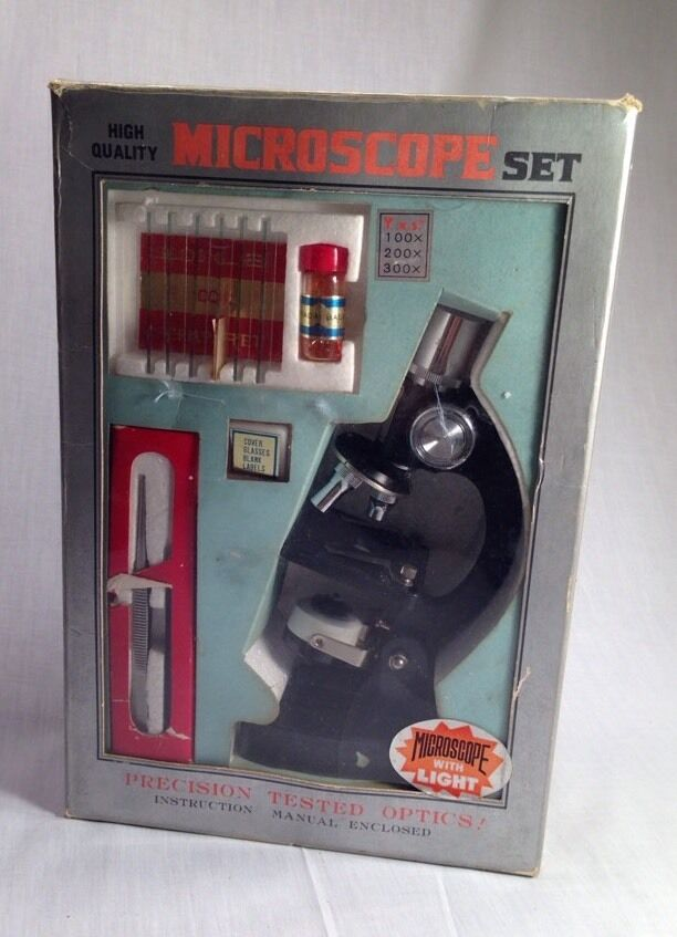 Vintage, Microscope Set, In Grate Original Box,  Science Decor.