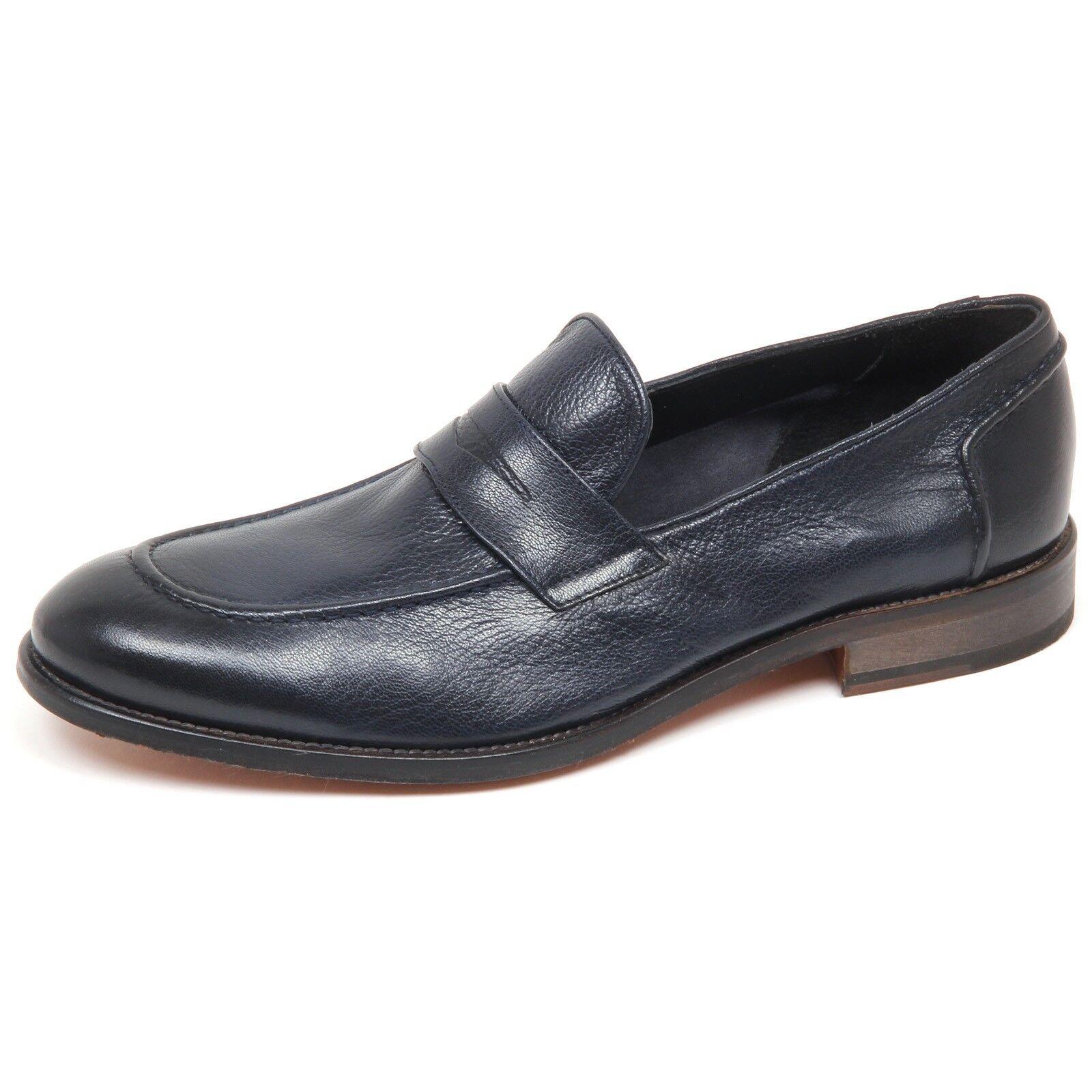 E8796 mocassino 1971 uomo blu CARACCIOLO 1971 mocassino loafer shoe man 1462c4