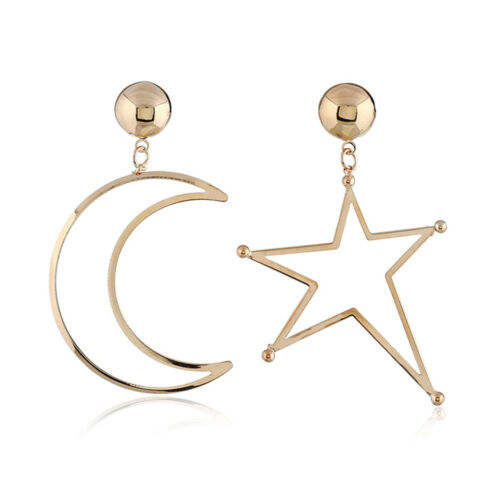 Fashion Women Star Moon Pendant Earrings Dangle Drop Ear Stud Charm Jewelry Gift