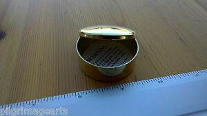Ted-Cash-Solid-Brass-Cap-Box-or-pill-box-etc-Plain-Top-Domed