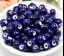un lote 20 cuentas de cerámica-bola de cerámica azul violeta para DIY bisuteria