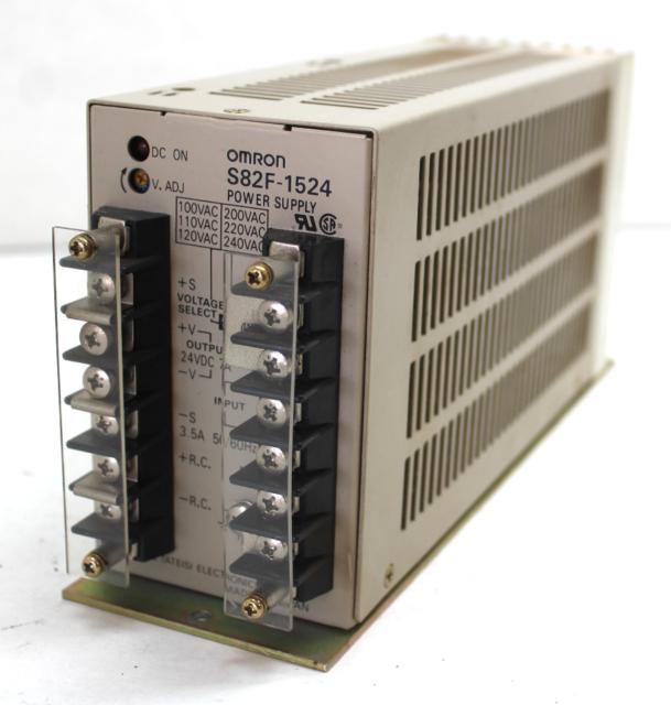 Omron S82F-1524 Power Supply, 24VDC, 120-240VAC