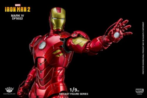 King Arts DFS022 1//9 Alloy Diecast  ABS Action Iron Man MK4 Figure Toy Mark IV