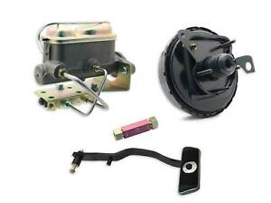 """1967-70 Ford Mustang 9/"""" Power Brake Booster Conversion Kit for Disc Drum Brakes"""