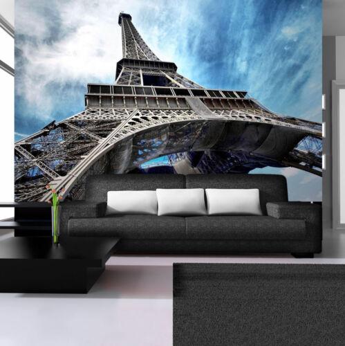 Vlies Fototapete Fototapeten Tapeten PARIS STADT  Eiffelturm GRAU  14N144VEXXL