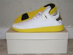 adidas PW Tennis Hu White Yellow Mens Size 9.5 DS NEW! BY2674 ... 68f0e82ca