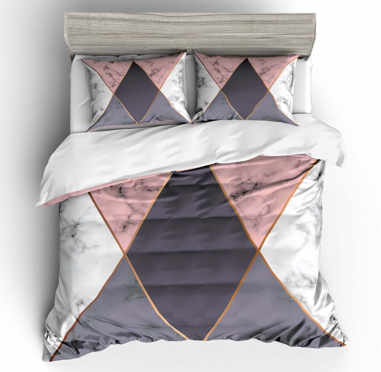 3D Marble Pattern Bedding Set Duvet Cover Comforter Cover Pillow Case F2 Ske15