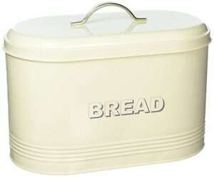 Vintage Retro Style Metal Cream Bread Bin New Home, Furniture & Diy Cookware, Dining & Bar