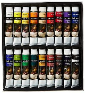 Jack Richeson Paints Oil Colors, 12ml, Set of 18