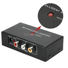 2 Port Input 1 Output Video Audio AV RCA Switch Switcher For DVR DVD Camera N8E6