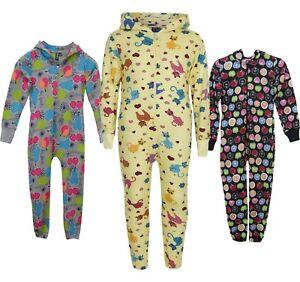 dd239fe17 Kids Onsie1 jumpsuit Boys Cat   Fruit Hooded One piece Pyjamas ...