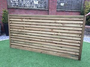 Modern Fence Panels, horizontal slatted double sided, pressure ...