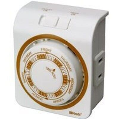 NEW WOODS 50003 INDOOR LAMP APPLIANCE ELECTRIC VACATION TIMER SALE PRICE