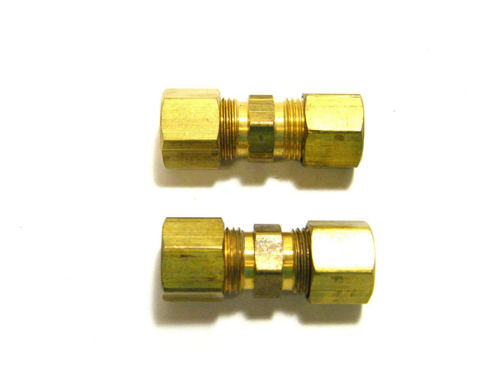 """Tectran Tube Union Compression Fitting 5//16/"""" 10 Pack #62-5"""