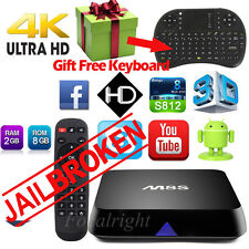 4K M8S Android 4.4 Smart TV Box S812 Quad Core Free Movie wifi free Keyboard NEW