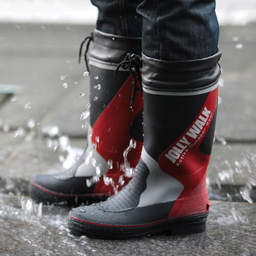 Waterproof Rubber Rain Boots Fishing Work Safety Boots Wellington Wellies Boots
