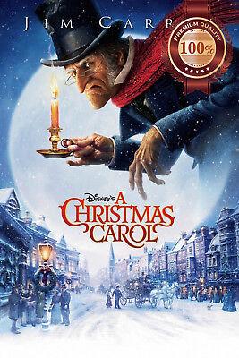 NEW A CHRISTMAS CAROL JIM CARREY DISNEY OFFICIAL MOVIE FILM PRINT PREMIUM POSTER   eBay