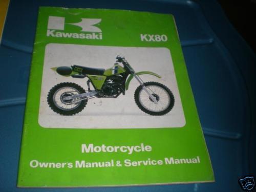 Kawasaki Shop Service Repair Manual 1981 Kx80 C1 D1