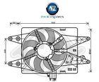 FOR FIAT DOBLO 1.3D 1.9D MULTIJET 2005-> NEW RADIATOR COOLING FAN