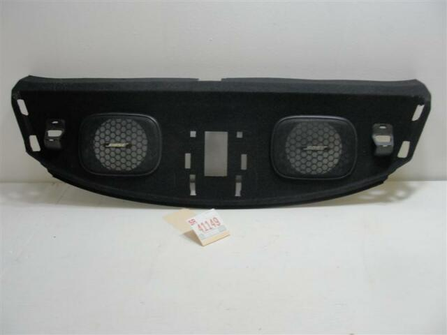 2003 2004 G35 COUPE REAR WINDSHIELD PACKAGE TRAY SHELF SPEAKER GRILL TRIM COVER