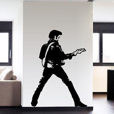 Large Elvis Presley Guitar Music Icon Wall Art Decoration Vinyl Sticker Decor
