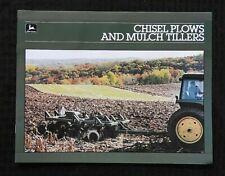 1985 John Deere 1610 1650 Chisel Plows 710 712 Mulch Tiller Sales Brochure Minty