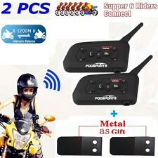 2pcs BT 1200M Moto Intercomunicador Headset Casco Motorcycle Bluetooth Interfono
