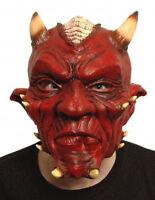 HALLOWEEN ADULT HELLS DEVIL MASK HORROR FANCY DRESS HALLOWEEN COSTUME