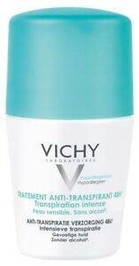 Vichy Intensivo Anti-Desodorante Antitranspirante 50ml Roll-on 48 horas HR Piel Sensible