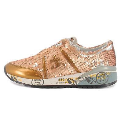 Dettagli su Scarpa Ann 2945 Premiata colore oro con paillettes per donna Premiata ANN2945