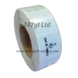 EC 104 -R WHITE/SILVER REFLECTIVE CONSPICUITY TAPE 45mm squares x 25 METERS