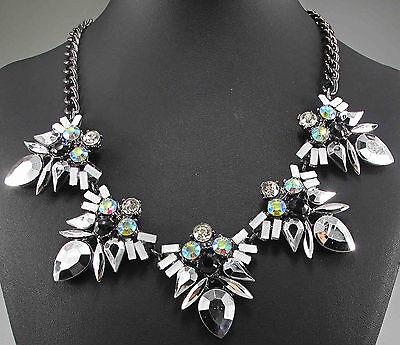 Fashion pentand Crystal Bib Statement charm chunky colorful collar Necklace 871
