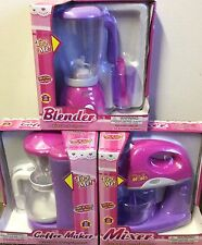 Kids APPLIANCES Blender+Mixer+Coffee Maker Real Working Playhouse Appliance Set