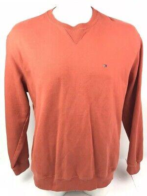 Burnt Orange Tommy Hilfiger Mini Flag Crewneck Sweatshirt