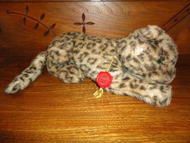 Vintage 1980s Hermann West Germany Leopard Cub Plush with Tags