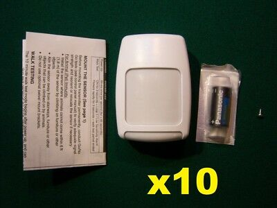 10 Honeywell Ademco 5800PIR-RES Wireless Motion Sensor Used /& Complete