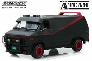 GREENLIGHT-13521-GMC-VANDURA-A-TEAM-VAN-diecast-model-grey-black-Ltd-Ed-1-18th