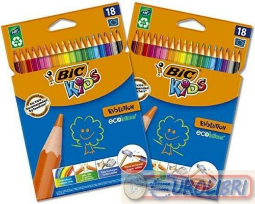 BIC Kids Evolution ECOlutions Matite per Colorare Colori Assortiti 2 Pacchi d