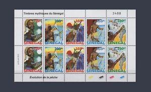 SENEGAL-2015-DESIGN-1977-EVOLUTION-PECHE-FISHING-POISSONS-FISH-FISHES-SHEET-MNH