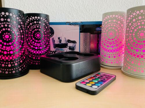 Duni 4er LED Set Multicolor Maxiset inclusive 4 Duni Led Kerzenhalter Billy