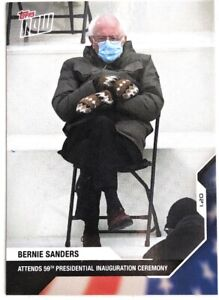 Bernie Sanders Card #21 Topps Now Inauguration 2020 Biden Kamala Harris IN HAND